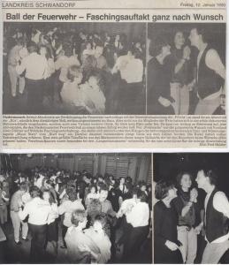 Feuerwehrball 1990 @FFW Niedermurach