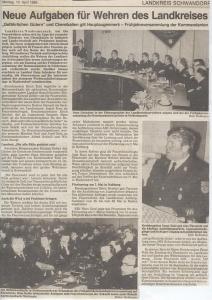 Landkreis Frühjahrsversammlung Kommandanten 1989 @FFW Niedermurach