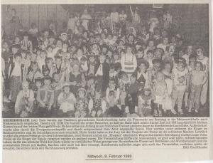 Kinderfasching 1989 @FFW Niedermurach