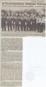 Leistungsabzeichen 1988 @FFW Niedermurach