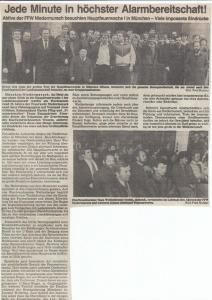 Besuch Hauptfeuerwache 1 München 1987 @FFW Niedermurach