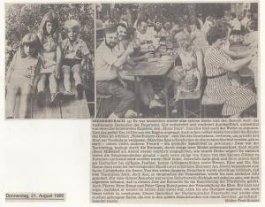 Gartenfest 1986 @FFW Niedermurach