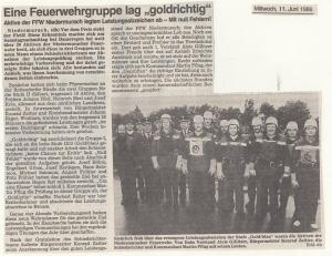 Leistungsabzeichen 1986 @FFW Niedermurach