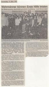 Erste Hilfe Kurs 1986 @FFW Niedermurach