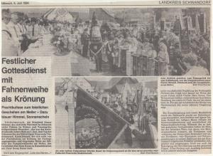 Fahnenweihe + Gerätehauseinweihung + Fahrzeugsegnung 1984 @FFW Niedermurach