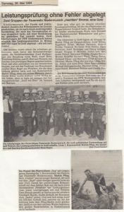 Leistungsabzeichen 1984 @FFW Niedermurach