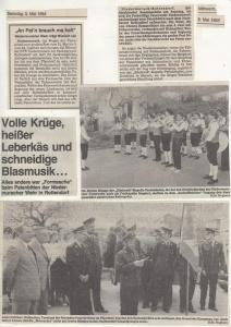 Patenbitten bei der FFW Rottendorf 1984 @FFW Niedermurach