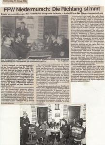 Generalversammlung 1984 @FFW Niedermurach