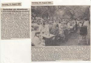 Gartenfest 1983 @FFW Niedermurach