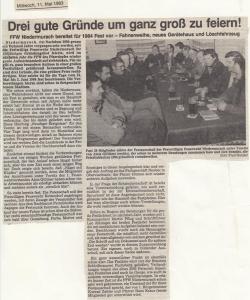 Festausschusssitzung 1983 @FFW Niedermurach