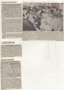 Kameradschaftsabend 1983 @FFW Niedermurach