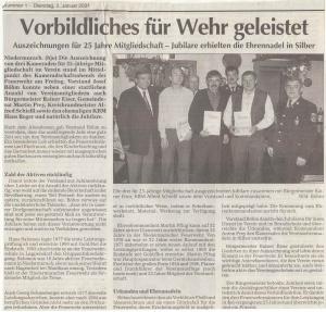 Kameradschaftsabend 2000 FFW Niedermurach