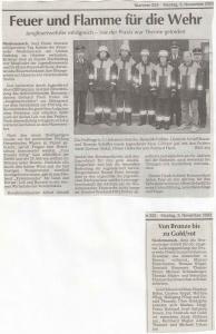 Jugendfeuerwehr+Aktive Leistungsabzeichen 2003 FFW Niedermurach