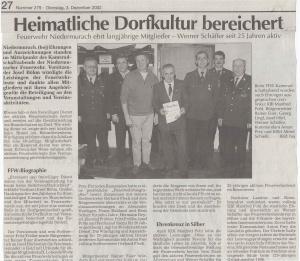 Kameradschaftsabend 2002 FFW Niedermurach