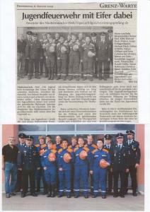 Jugendfeuerwehr Leistungsprüfung 2009 FFW Niedermurach