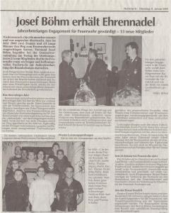 Generalversammlung 2001 FFW Niedermurach
