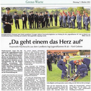 Jugendflamme III 2012 FFW Niedermurach