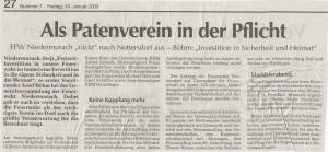 Generalversammlung 2003 FFW Niedermurach