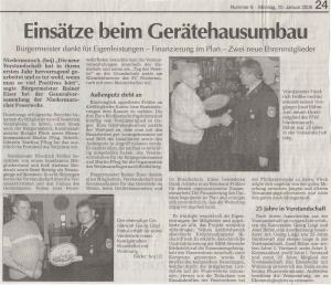 Generalversammlung 2005 + Bericht Jugendfeuerwehr FFW Niedermurach
