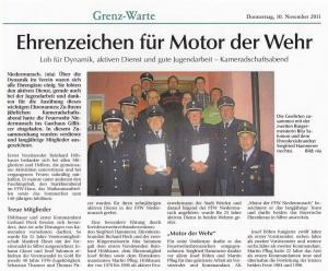 Kameradschaftsabend 2011 FFW Niedermurach