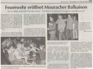 Faschingsball 2004 FFW Niedermurach
