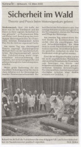 Motorsägenkurs 2002 FFW Niedermurach