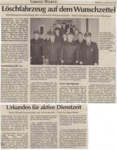 Generalversammlung 2011 FFW Niedermurach