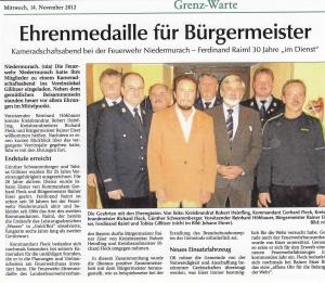 Kameradschaftsabend 2012 FFW Niedermurach
