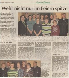 Kameradschaftsabend 2014 FFW Niedermurach