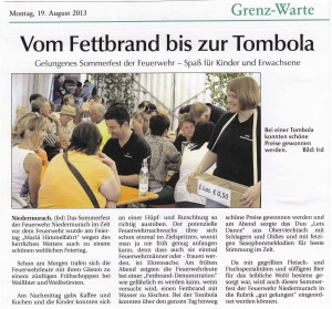Sommerfest 2013 FFW Niedermurach