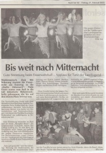 Faschingsball 2003 FFW Niedermurach