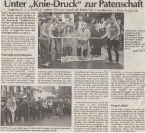 "Patenbitten in Rottendorf zu ""Mouara feiert"" 2009 FFW Niedermurach"