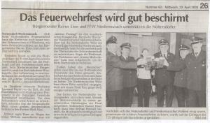 Schirmherrenbitten 2003 FFW Niedermurach