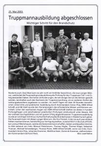 Truppmannausbildung 2003 FFW Niedermurach