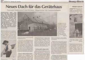 Umbau Feuerwehrhaus Richtfest FFW Niedermurach