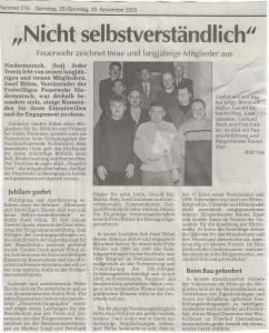 Kameradschaftsabend 2003 FFW Niedermurach