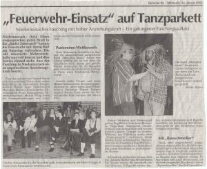 Faschingsball 2002 FFW Niedermurach