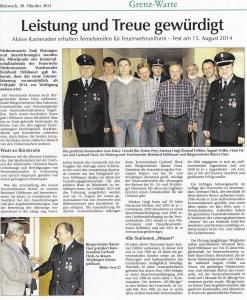 Kameradschaftsabend 2013 FFW Niedermurach