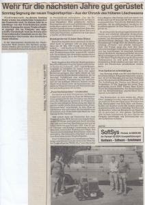 Sommerfest 1993 mit Segnung neuer Tragkraftspritze TS8 @FFW Niedermurach