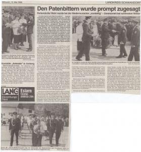 Patenbitten der FFW Rottendorf 1995 @FFW Niedermurach