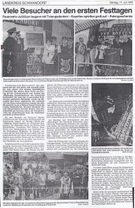 Patenverein beim 100jährigen Gründungsjubiläum FFW Rottendorf @FFW Niedermurach