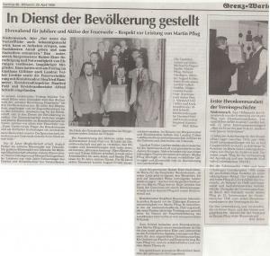 Ehrungsabend 1998 @FFW Niedermurach