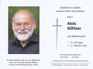 Alois Gillitzer +17.02.2019