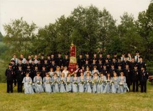 Fahnenweihe, Fahrzeugweihe, Einweihung FW-Haus & Heimatfest 1984 017