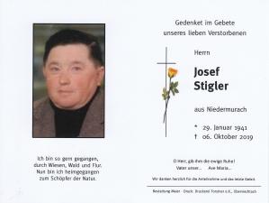 Josef Stigler +06.10.2019