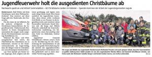 Christbaumsammelaktion der Jugendfeuerwehr 2020  @FFW Niedermurach