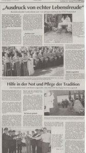 Patenverein der FFW Nottersdorf zum 125 jährigen Gründungsfest FFW Niedermurach