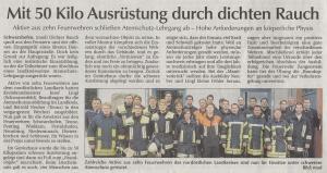 Erste Teilnahme an einem Atemschutzlehrgang 2012 @FFW Niedermurach