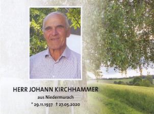 Johann Kirchhammer +27.05.2020
