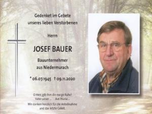 Josef Bauer +09.11.2020
